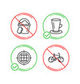 teacup seo internet and sponge icons set bicycle vector image vector image