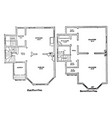 the bennett floor plans coleman homes countryside vector image vector image