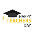 typography banner happy teacher s day vector image vector image