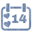 valentine calendar day fabric textured icon vector image