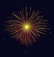 vibrant sparkling golden red fireworks vector image