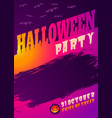 vintage card for halloween party vector image vector image