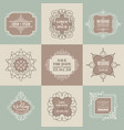 wedding initials frame set linear thin line vector image vector image