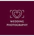 Wedding Photography logo vector image vector image