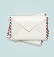 Stack of envelopes vector image
