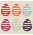 easter eggs set vector image