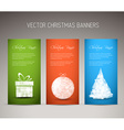 Set of christmas New Year vertical banners vector image