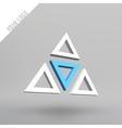 Abstract 3d logo Arches in perspective vector image vector image