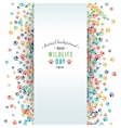 abstract banner promotion of world wild life day vector image vector image