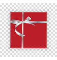 abstract christmas and new year gift box on vector image vector image