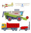 agriculture harvest machine industrial farm vector image