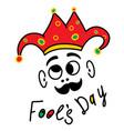 april happy fool s day funny humor vector image vector image