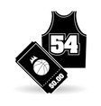 Basketball icon design vector image vector image