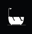 bathtub on black vector image