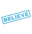 Believe Rubber Stamp vector image vector image