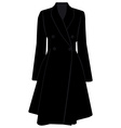 Black trench coat vector image vector image