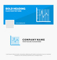 blue business logo template for progress report vector image