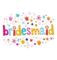 bridesmaid vector image vector image