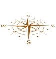 Brown compass compressed vector image vector image