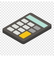 Calculator isometric 3d icon vector image vector image