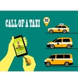 call a taxi vector image