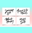 calligraphy summer sale vector image vector image