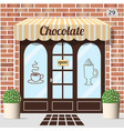 chocolate shop facade vector image vector image