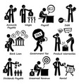 company business liability pictogram human vector image vector image