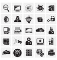 computer and internet technologies set on squares vector image