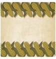 Corn frame old background vector image