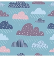Cute funny clouds seamless pattern vector image vector image