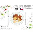 czech cuisine european national dish collection vector image