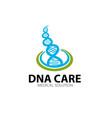dna molecule logo designs for medical service vector image
