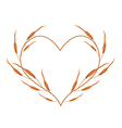 Dry Leaves in A Heart Shape Frame vector image vector image