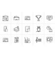 education hand drawn sketch icon set vector image vector image
