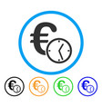 euro credit rounded icon vector image vector image