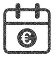 Euro Day Grainy Texture Icon vector image vector image