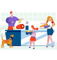 father and little daughter cooking on kitchen vector image
