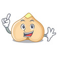 Finger chickpeas mascot cartoon style