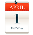 Fools Day vector image vector image