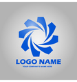 geometric abstract logo icon vector image vector image