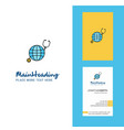 globe creative logo and business card vertical vector image vector image