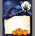 halloween background with parchment vector image vector image