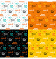 halloween lettering seamless patterns vector image vector image