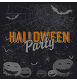 halloween party flyer vector image vector image