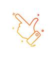 hand choose click icon design vector image