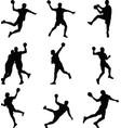 handball player vector image vector image