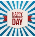 Happy Friendship Day festive Emblem vector image vector image