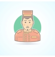 Hotel porter man doorman service guy icon vector image vector image