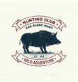 hunting club badge eat sleep hunt vector image vector image